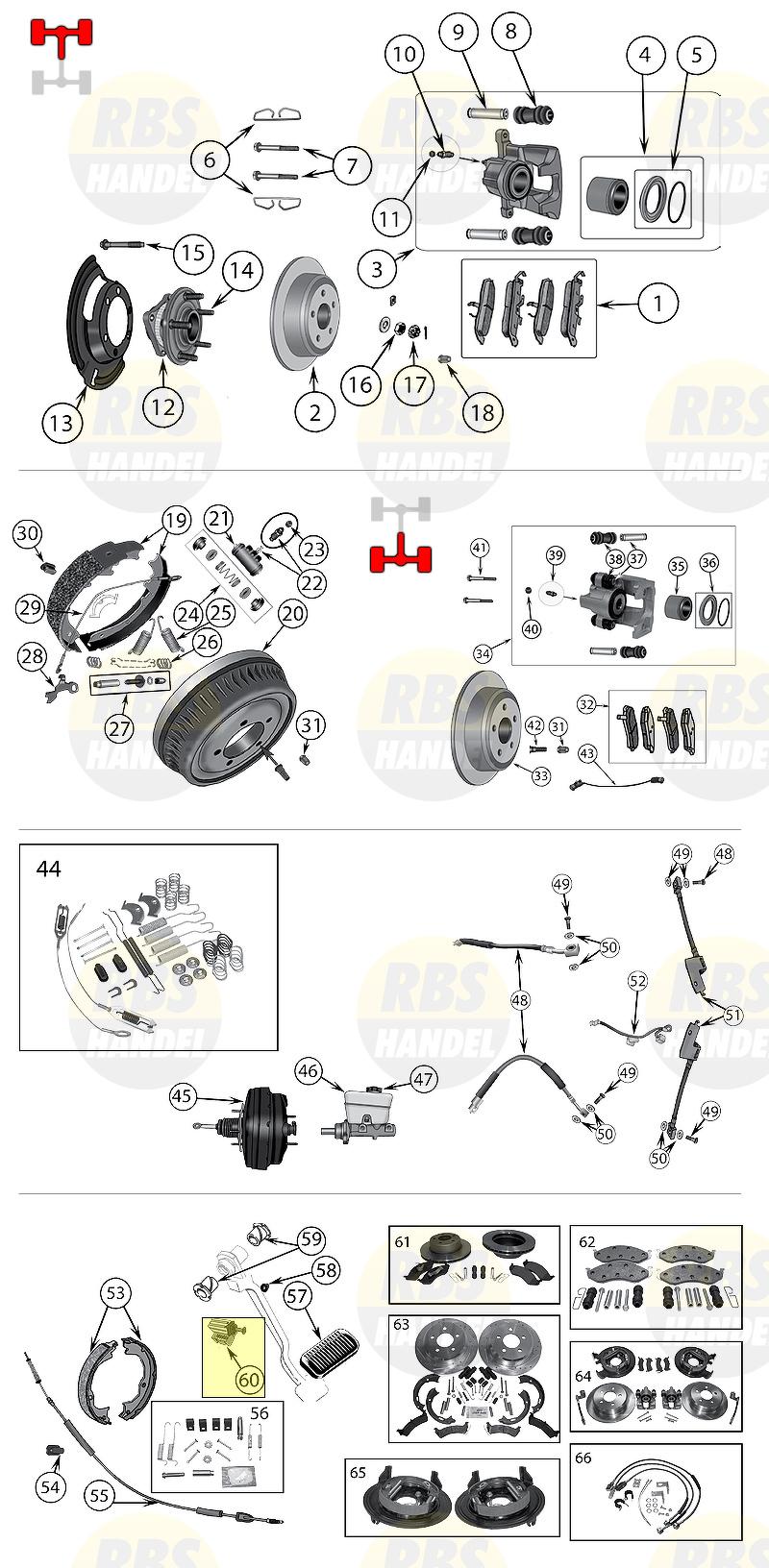 56006981 2.1 L, 2.5 L, 4.0 L Bremslichtschalter Jeep XJ Cherokee ...