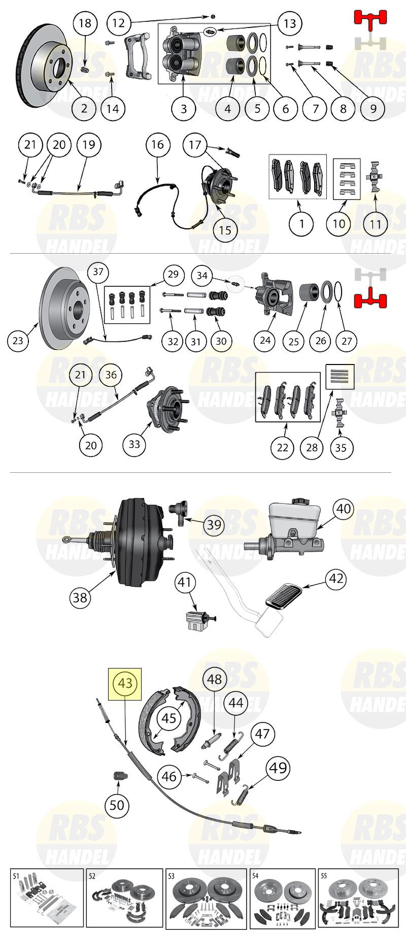 Hand Brake Cable Derecha Jeep Grand Cherokee 05-10 Commander 06-10 68024890